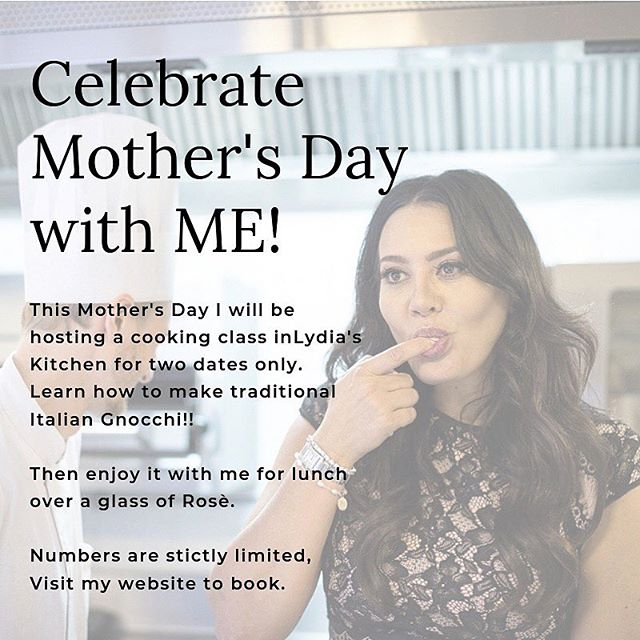 You better bring your mum to @inlydiaskitchen ...(because you don't want to upset her on Mother's Day!!) Surprise mum! Two dates only- be quick. Visit my website to book (limited spots available) x . . #mothersday #mothersdaygiftideas #gifts #cookingclass #learntocook #learntochef #italiancookingclass