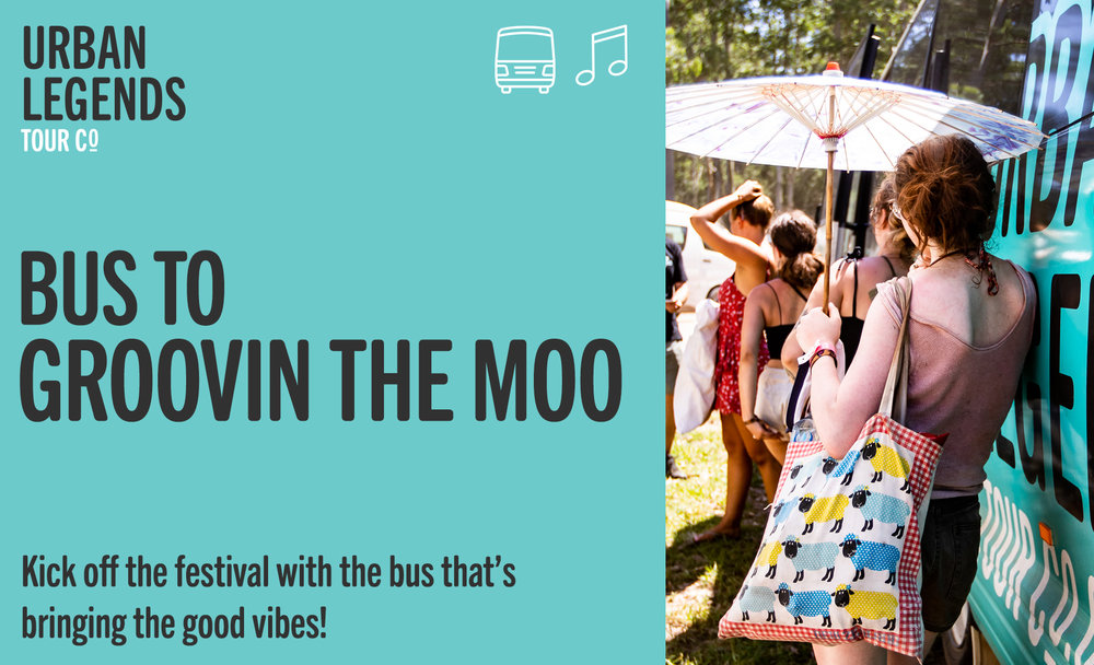 Festival transfer bus to Groovin' The Moo music festival