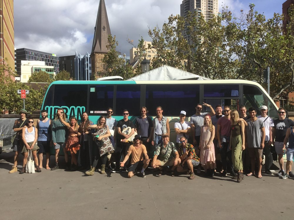 The best drivers, coaches and mini buses for music festivals in Sydney - Luggage trailers, Sound systems, fun drivers