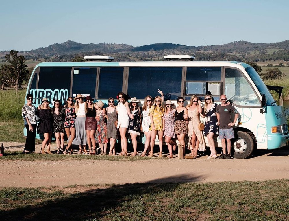 Hens party south coast wine tour