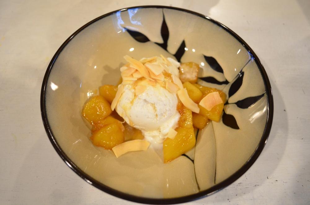 Gingered pineapple sundae eaten in Madagascar, Nigeria, and Tanzania.