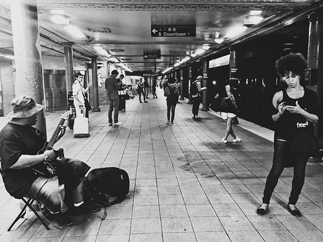 Hold Music. 9/2016. • • •  #bestofvsco #hsdailyfeature #myfeatureshoot #lensculture #lensculturestreet #documentlife #dametraveler #newyorksubway #nyclife #bnw_captures #streetphoto_bw #streetshot #documentaryphotography #nationalgeographic #fromwhereistand #bnwphotography #bnw_city #justgoshoot #shotaward #dailylife #vscofilter #broadmag #lucecurated #magnumphotos #urbanphotography #newyorker #utahphotographer #newyorknewyork