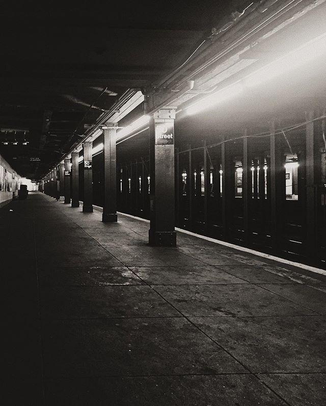 50 Street, NYC Subway. 9/2016. • • •  #documentyourdays #exploringtheglobe #thecreatorclass #urbanexploring #utahphotographer #urbanphotography #newyorksubway #newyorknewyork #subway #bnw_city #bnwphotography #bnw_society #ourmomentum #passionpassport #shotaward #streetshot #spicollective #dametraveler #fromwhereistand #hsdailyfeature #myfeatureshoot #mytinyatlas #lensculturestreet #lensculture #nationalgeographic #kinfolk  #createexplore #vscobest