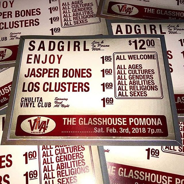 🎉 TONIGHT 🎉 ROLL OUT TO THE @wearesadgirl SHOW AT THE GLASSHOUSE & SNAG ONE OF THESE LIMITED POSTERS 🎉 GONNA BE A SPECIAL ONE 🔮 DON'T MISS IT 💀