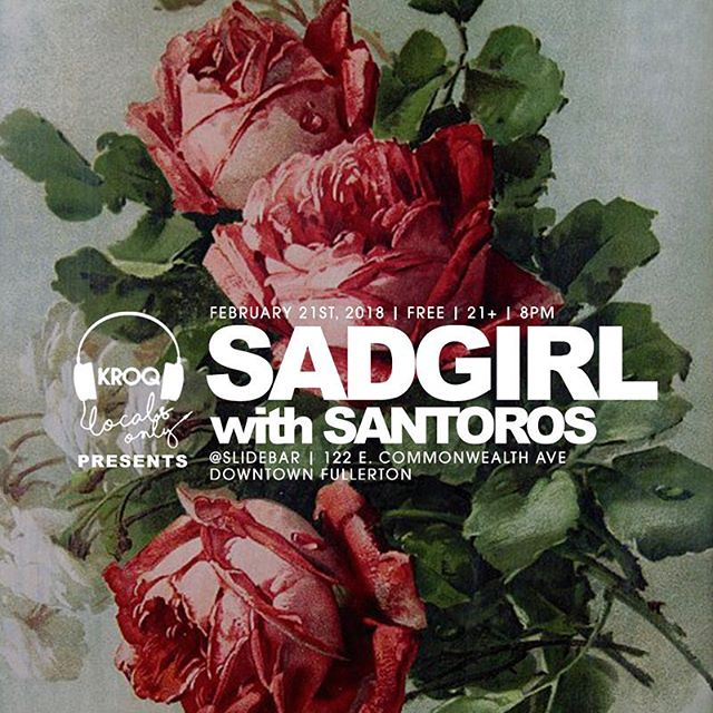 And if you really wanna outdo yourself for Valentine's Day this year, take you woman or man to @wearesadgirl & @santorosband show feb 21st in Fullerton ❤️ V romantic 🔥🔥