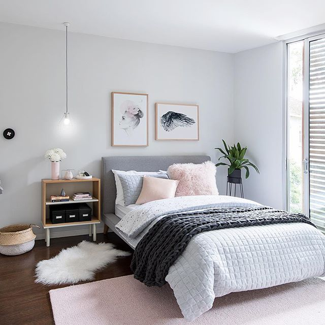 Our ✌🏻 room featured in the latest online addition of @mintymagazine was this serene tween room we designed for one of our very special clients! Soft greys and pink dominated this calm Tranquil Retreat .... which is what we used on the walls! 1/4 strength @duluxaus Tranquil Retreat!!!!! 😂😂😂 #tween #tweens #tweenbed #tweenroom #tweenbedroom #mintymagazine 📸 @rachelwintonphotography