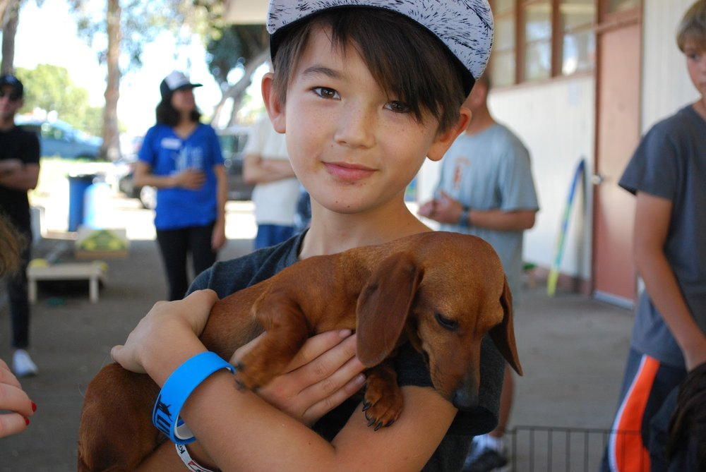 Dylan at the Live Like Doug Puppy Party event.