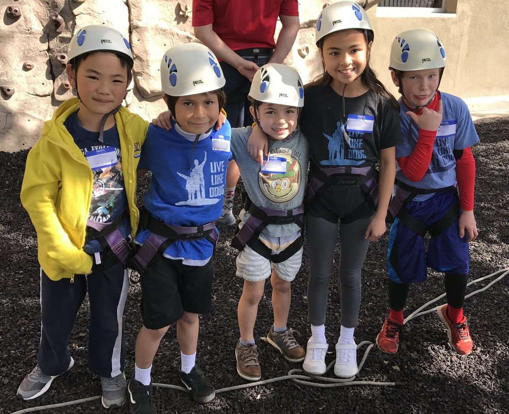 Climbing to new heights at our April 2017 Social Circle...rock climbing at AdventurePlex.