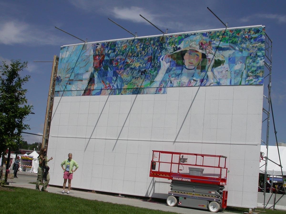 Des Moines Interactive mural project, circa 2008