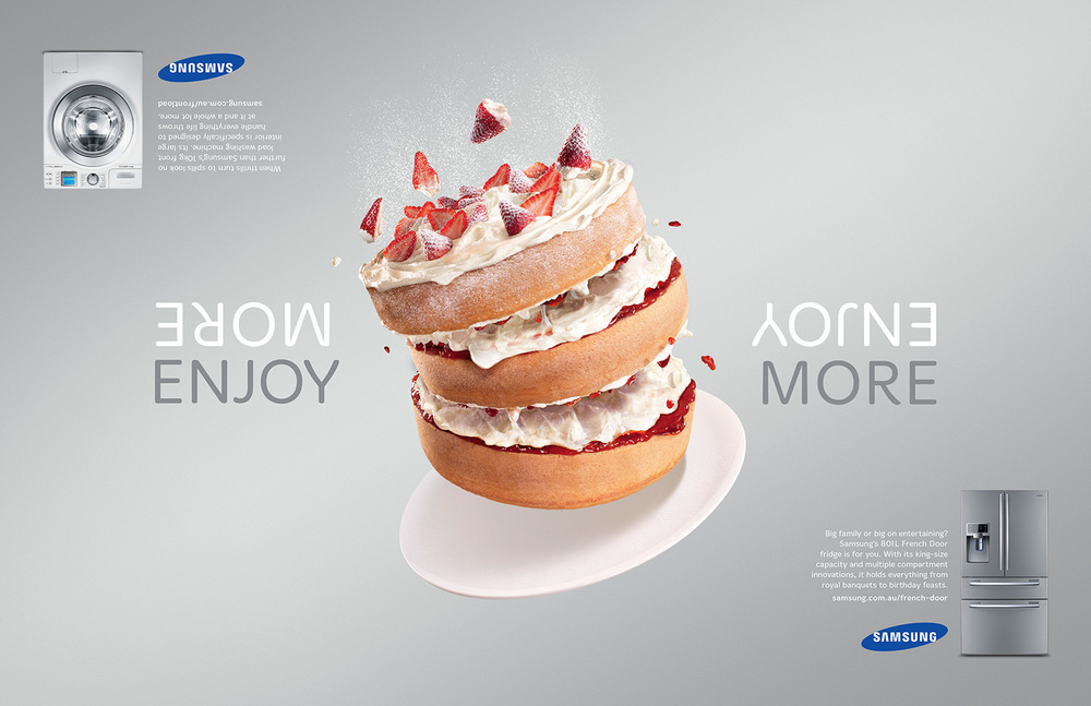 Samsung  Agency: Leo Burnett  Art Director: Brendan Donnelly  Copywriter: Guy Futcher  Retouching: Toby & Pete