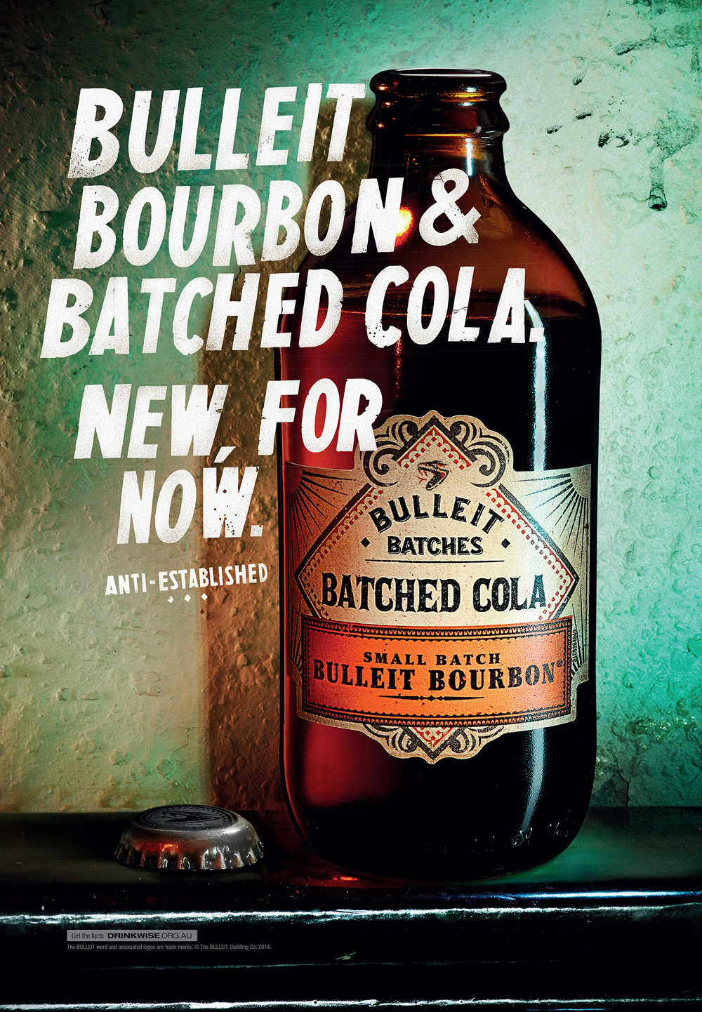 Bulleit Bourbon  Agency: Leo Burnett  Art Director: Ben Alden  Copywriter: Michael Dawson  Retouching: Cream Retouching