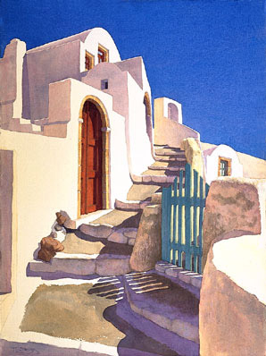 Stone Path of Oia