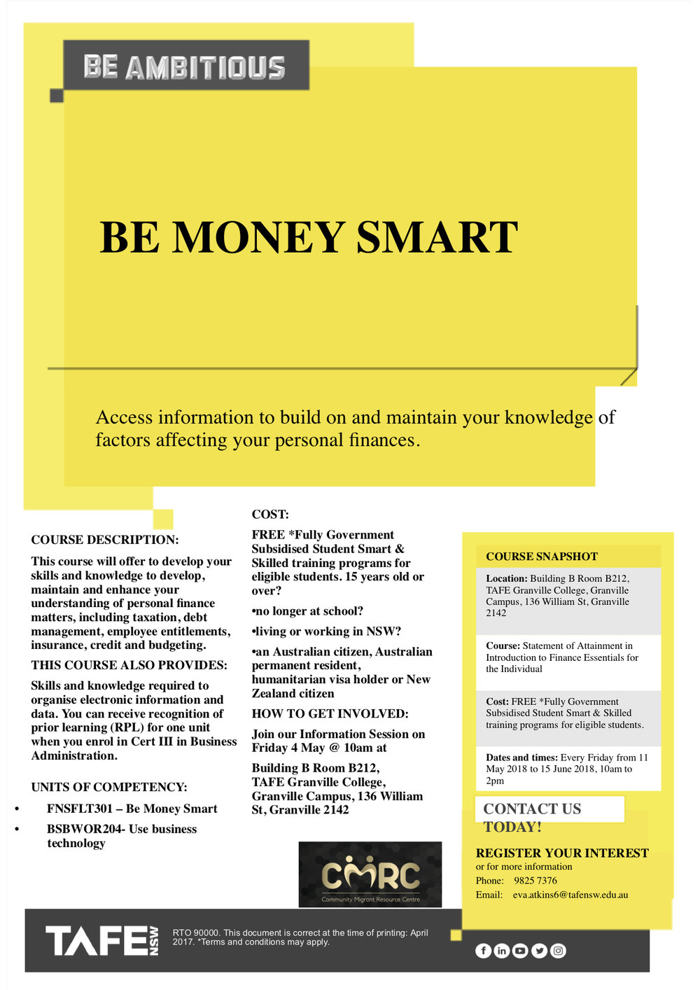 Flyer SoA in Introduction to Finance Essentials for the Individual.jpg