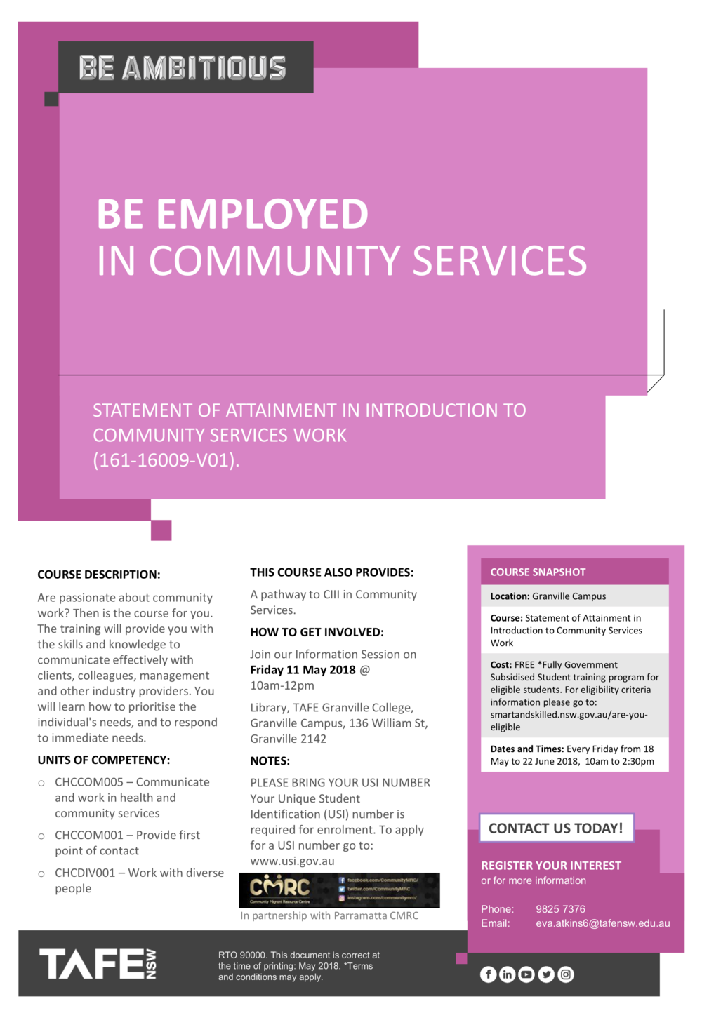 Flyer SoA in Introduction to Community Services Work.png