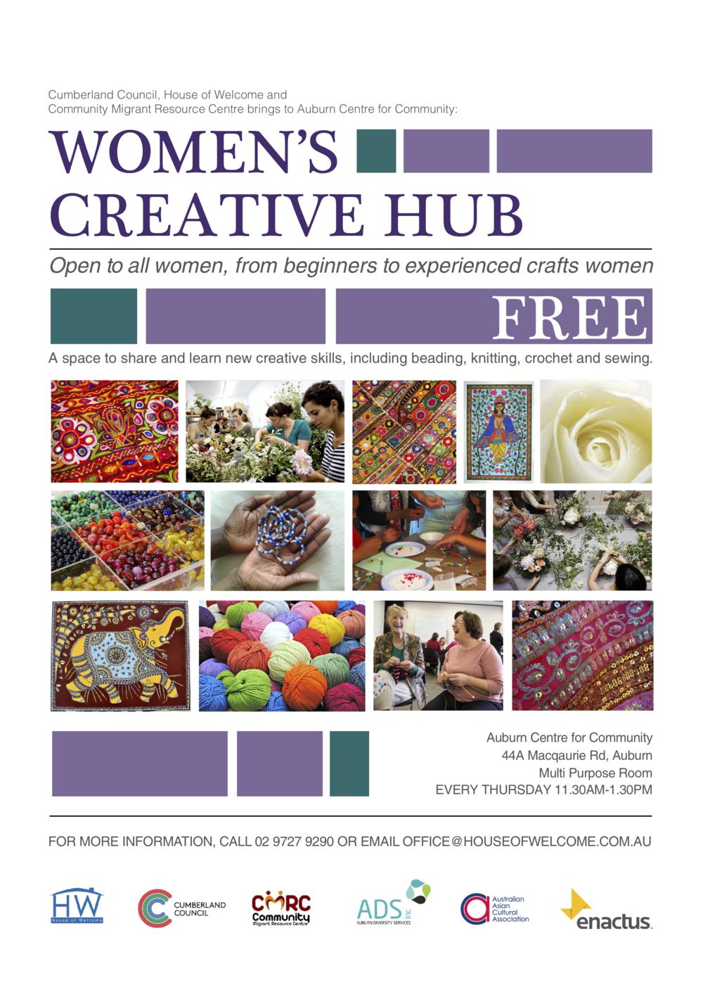 Cumberland Council_Women's Creative Hub Flyer.png