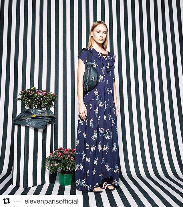 #Repost @elevenparisofficial with @get_repost ・・・ Read between the lines. Our maxi dress Zahir is shoppable with the #linkinbio  #elevenparis #ss18 #lookbook #maxidress #flowerpower