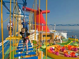 Kids zone on a Carnival Cruise line