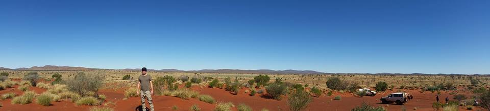 On country, Irrunytju, Western Australia.