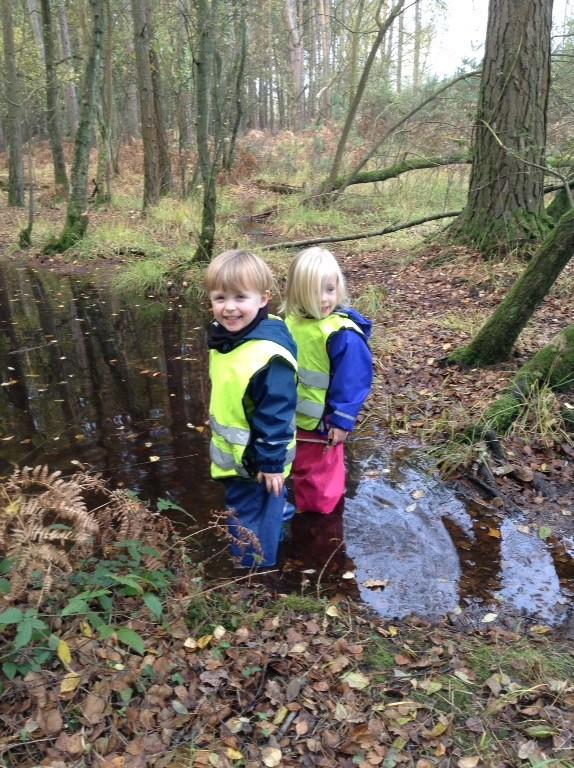 Forest school nursery approach
