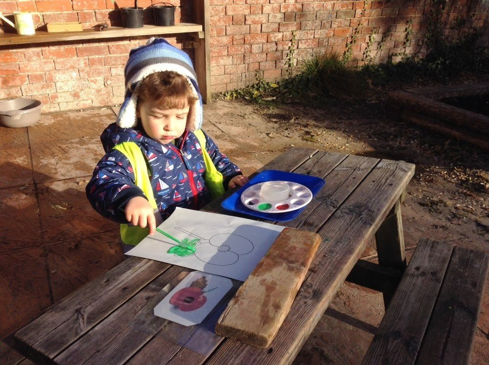 Arts and Crafts at our outdoor nurseries