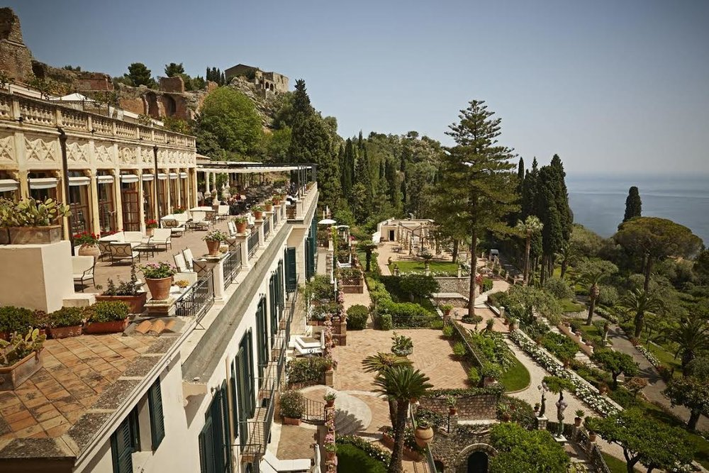 A beautiful view from  Belmond Grand Hotel Timeo