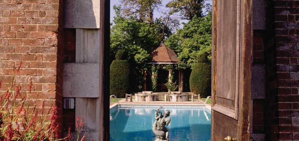 Poolside scenes at Cliveden Hotel and Spa