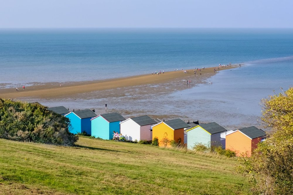 Beach Huts on  Whistable beach, Kent