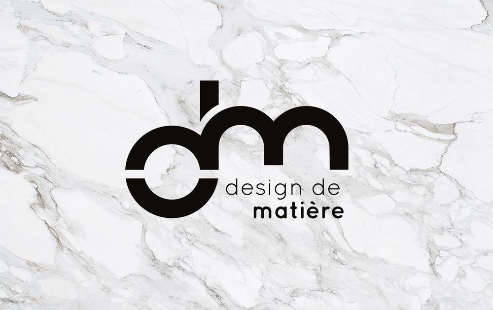 logo design de matière hello