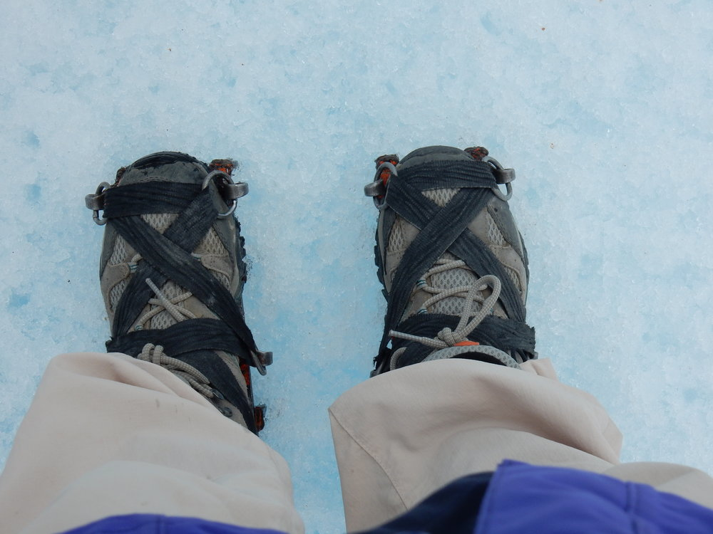 My first steps on Glacier with crampons