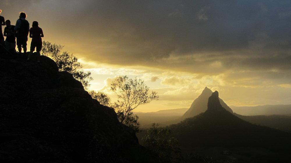 Beautiful sunset summit Mt Ngungun