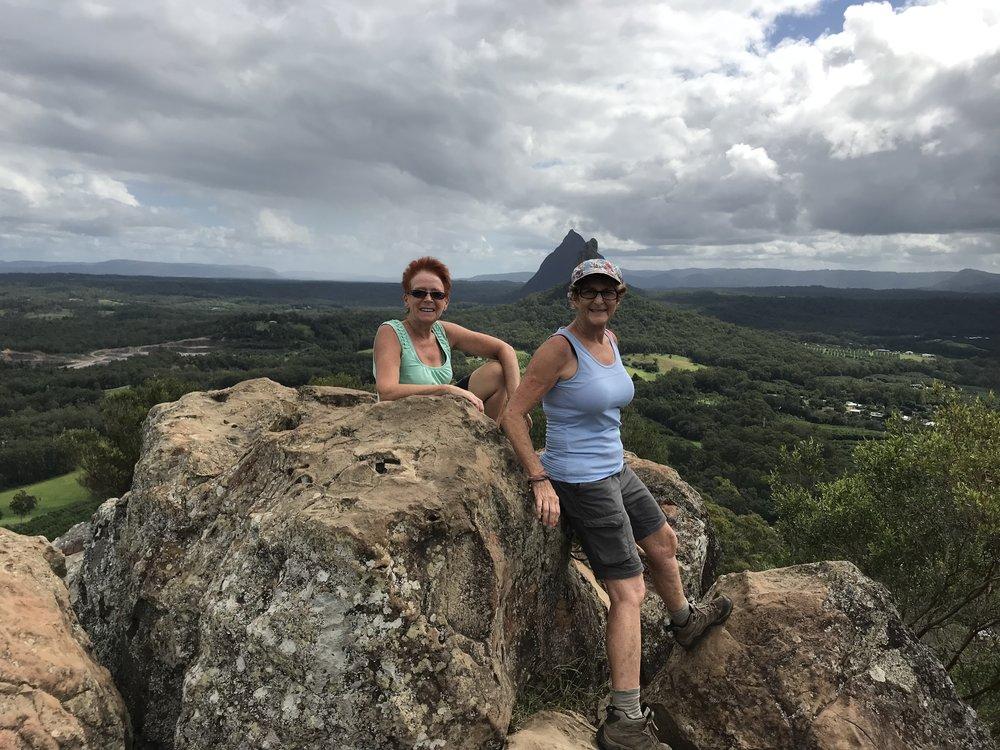 Summit Mt Ngungun with my friend Cathy