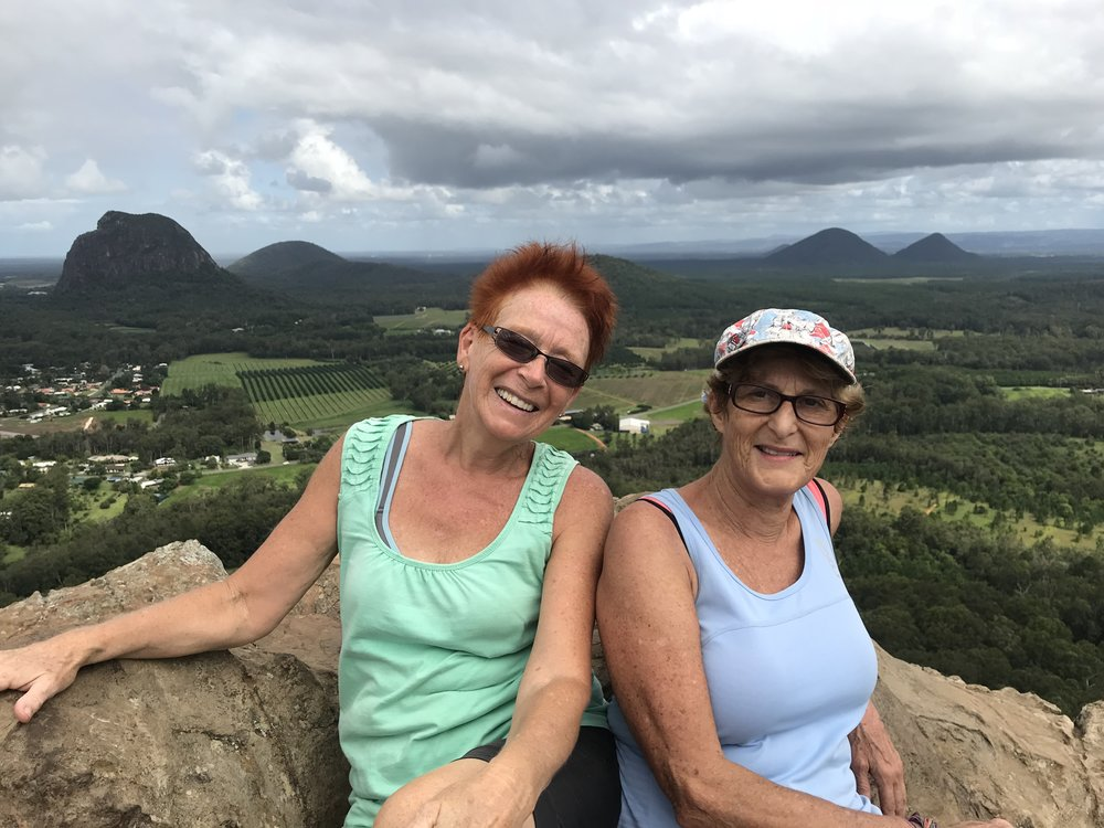 Mt Tibrogargn in background and Glasshouse Mountains farmlands