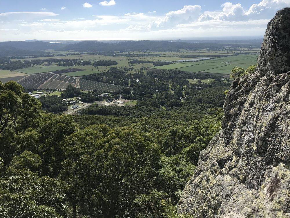 Overlooking farmlands