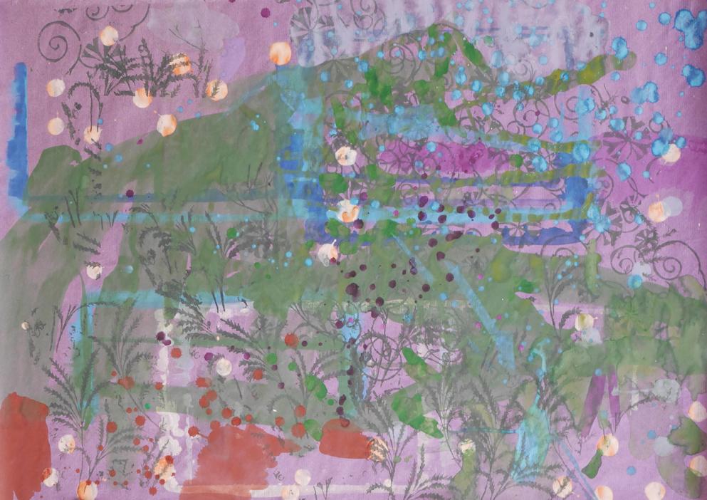 Gouache & Dispersion auf Papier, 84,1 x 59,5 cm