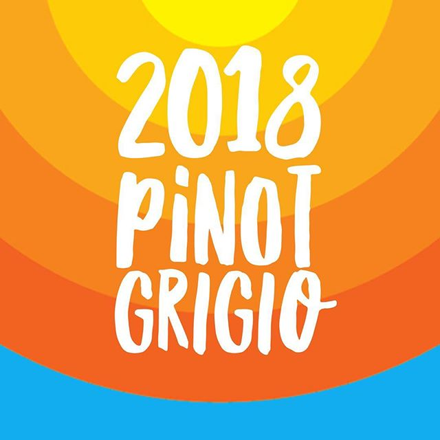 New Wine. 2018 King Valley Pinot Grigio available next week. . . #wine #pinotgrigio #kingvalley #rangelifewine #crisp #fresh #draplin #graphicdesign
