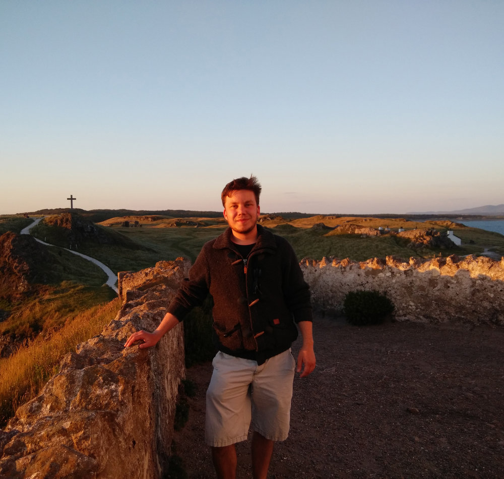 Malte Heyen - Originally from the wonderful city of Hamburg in the north of Germany, Malte started studying Cognitive Science at the University of Osnabrück in 2015. But it drew him back to the sea and in June he came to Bangor to do a DAAD internship at the SoBA Lab. He is very excited to learn about all the different interactions between social Psychology and social Robotics, and even more so to meet all the amazing people (and robots) at the laboratory.  He is looking forward to gaining insights into the daily routine of research at the university and to learning more about methods involved in social robotics research. Apart from cognition and neuropsychology, Malte loves to go hiking to explore and discover new places. He enjoys the beautiful landscape of Gwynedd and Anglesey and the opportunity to travel around north Wales. Besides that, he likes good movies (and really trashy ones), books, comedy and weird music. He is not sure yet where the journey will take him, but the time at the SoBA-Lab is definitely a great experience, educationally and personally.