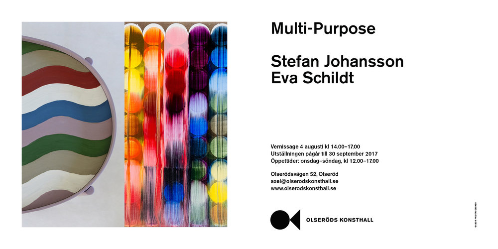 Exhibition together with artist  Stefan Johansson  at  Olseröds Konsthall  from August 4th until September 30th. More images you find  here .