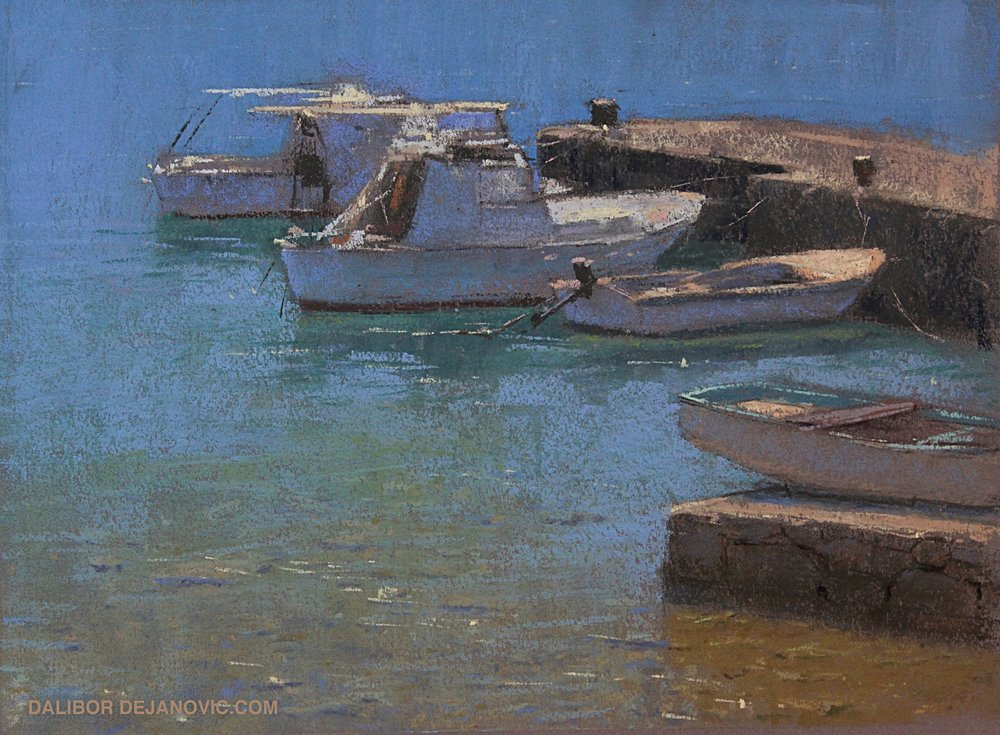 Painted on location, Island of Vis.   8x10in Pastel  SOLD