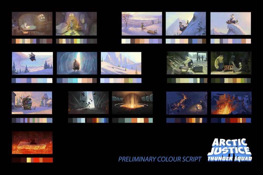 Feature film, color script