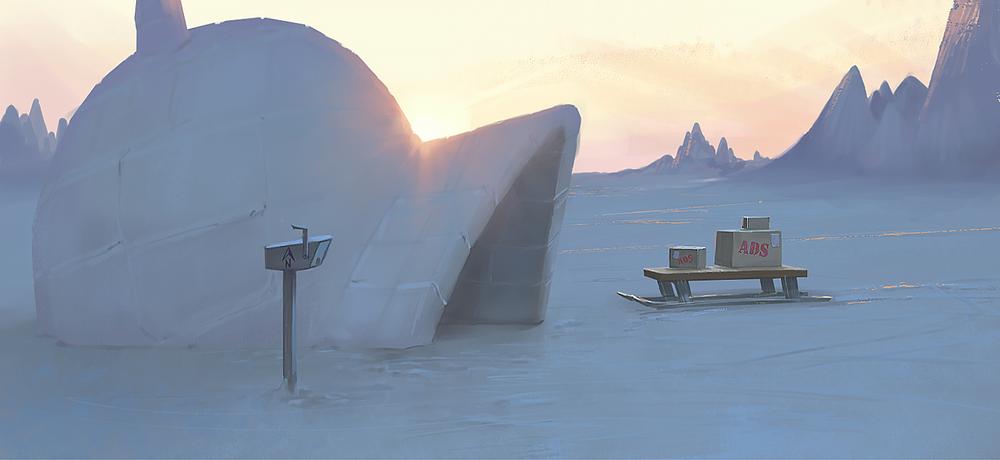 Arctic sundown
