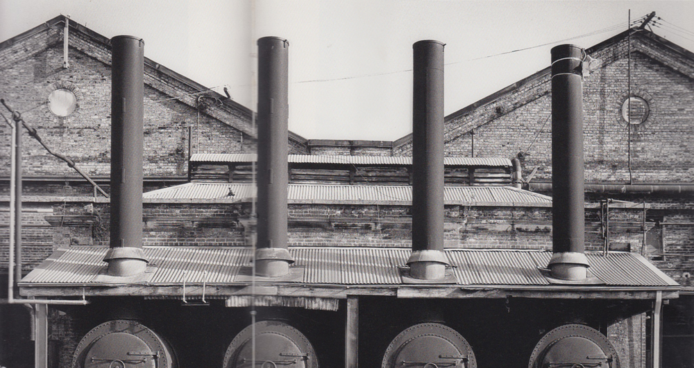 The class 36 steam boilers supplied steam power to the workshops. Image from Railways, Relics and Romance. Photographed by Henry Moore.