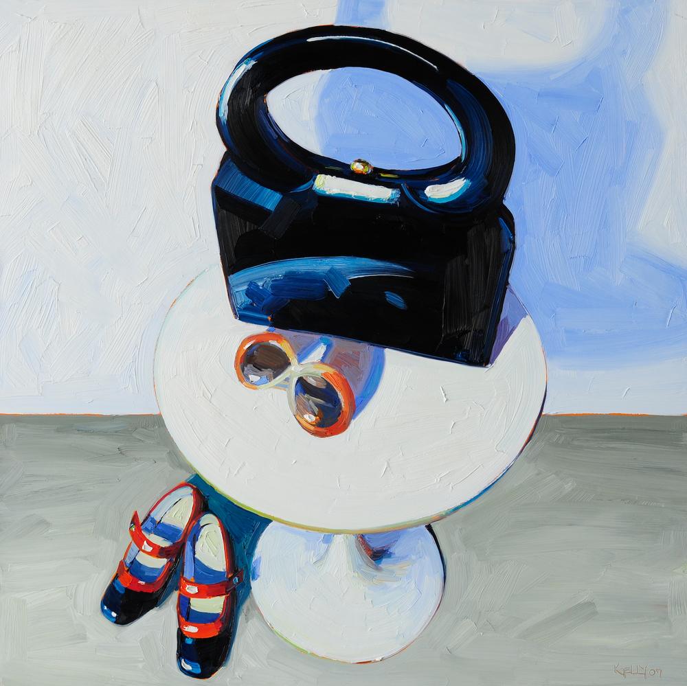 Navy Handbag Still Life, 2007