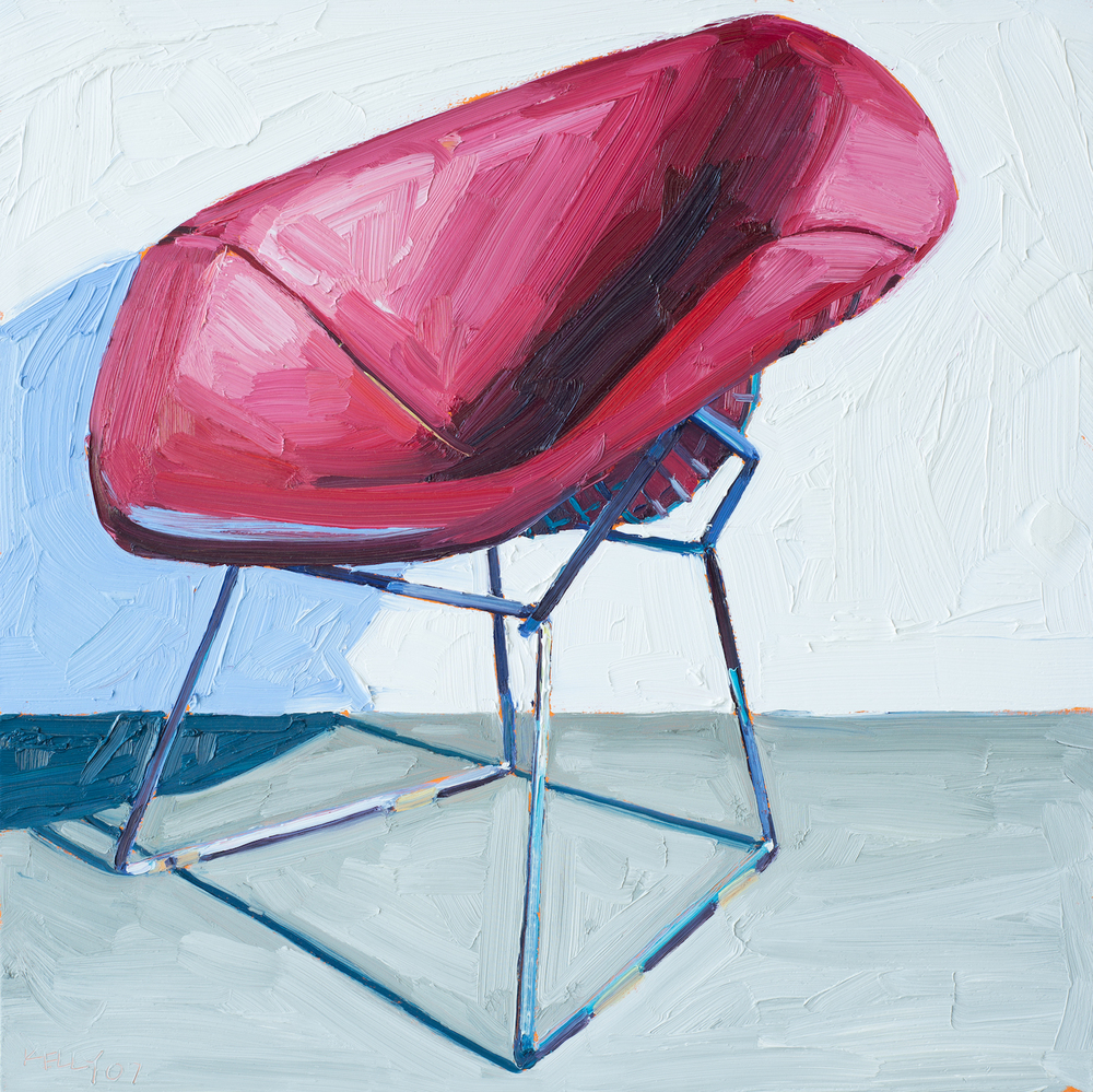 Pink Bertoia Chair Right View, 2007