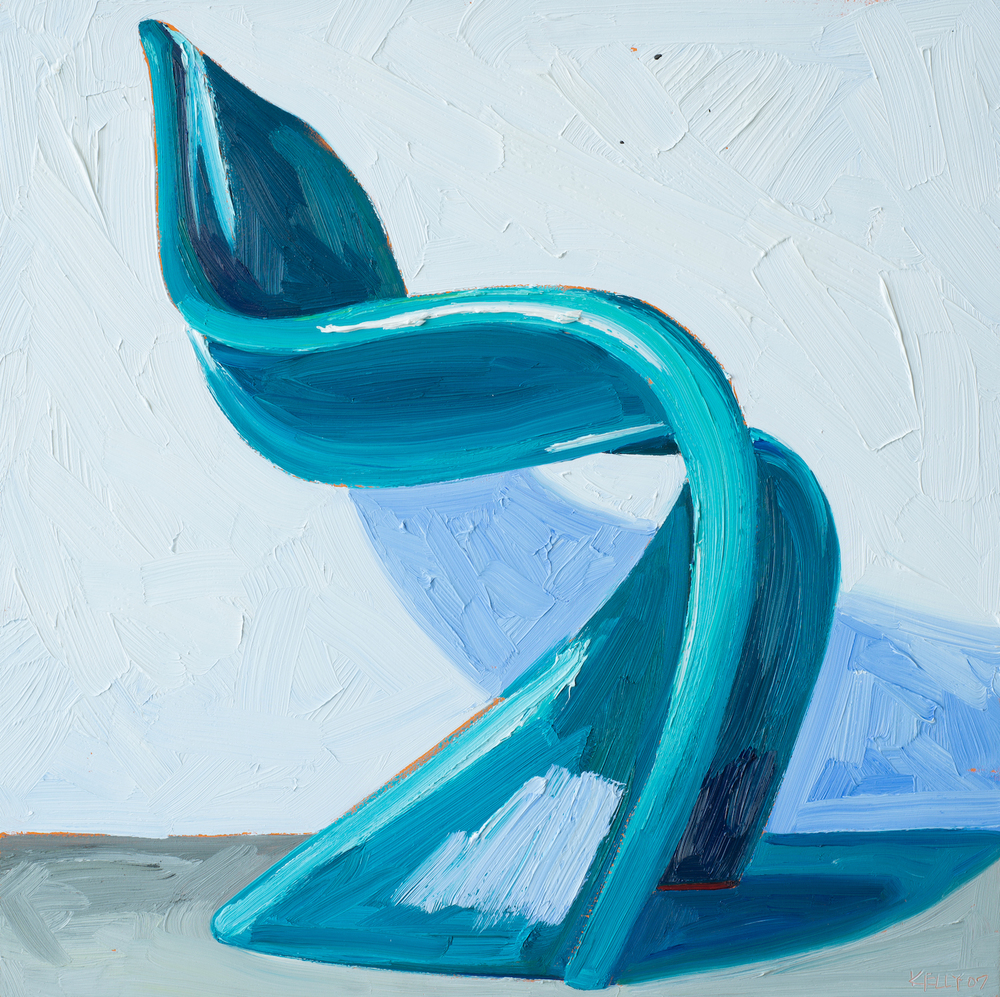 Aqua Pantone Chair Left View, 2007