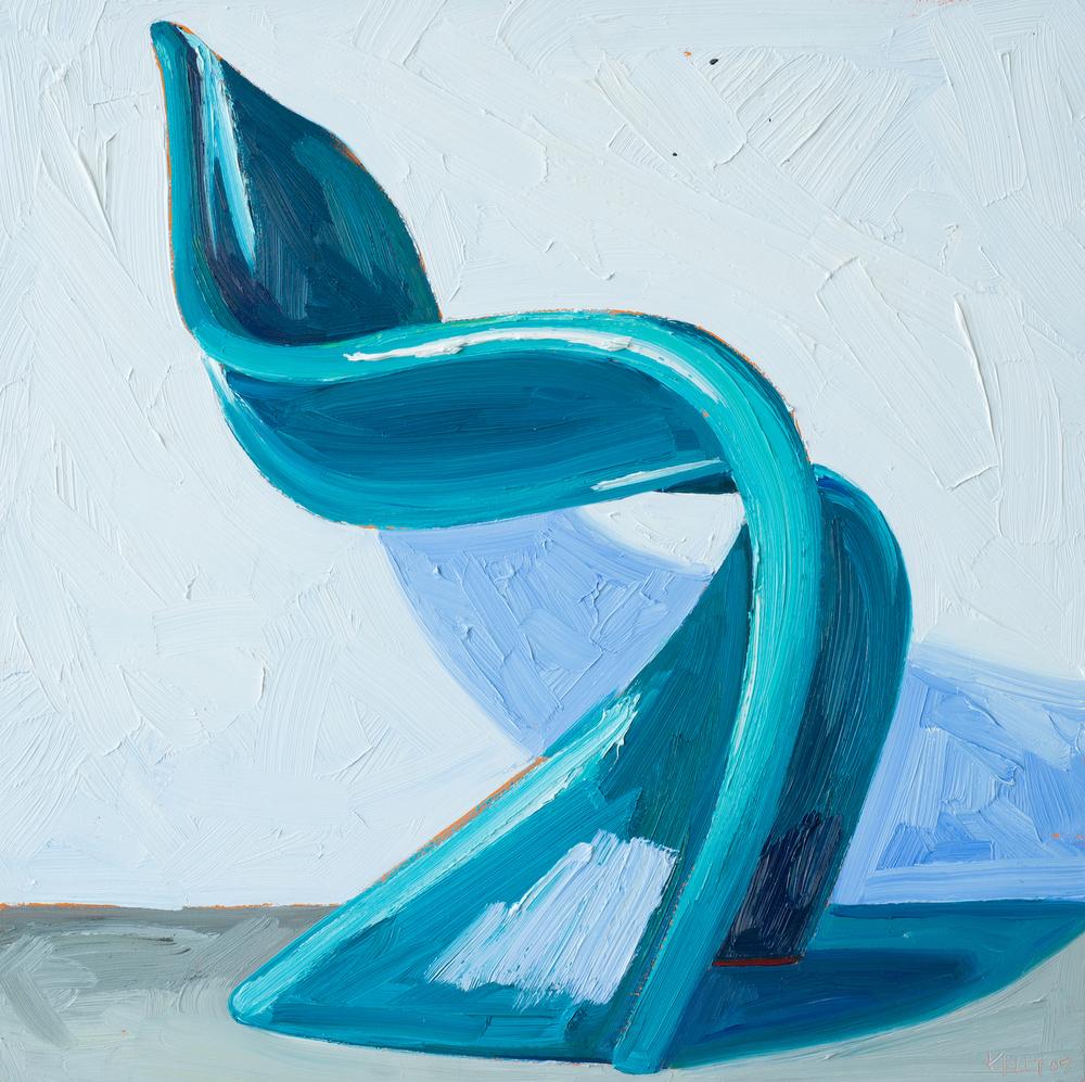 Aqua Pantone Chair Left View, 2007