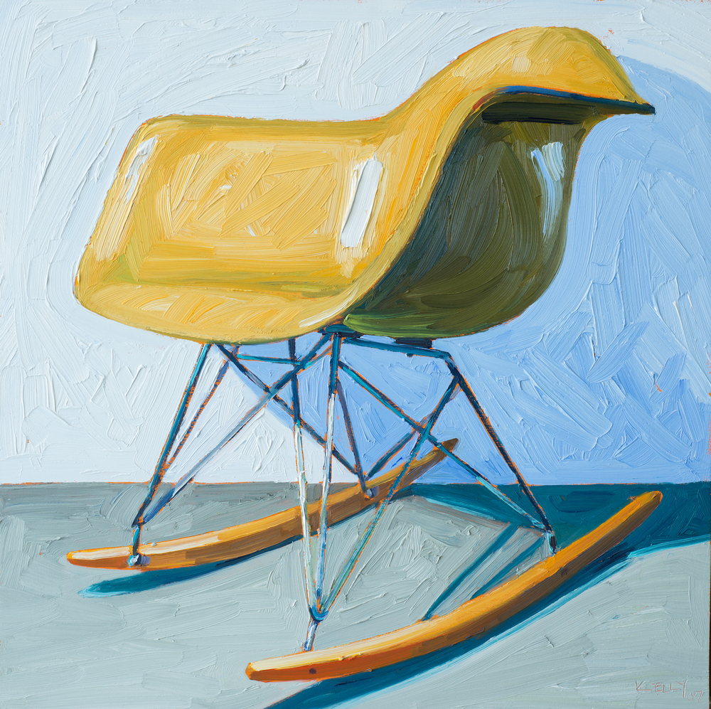 Eames Gold Rocker Right View, 2007