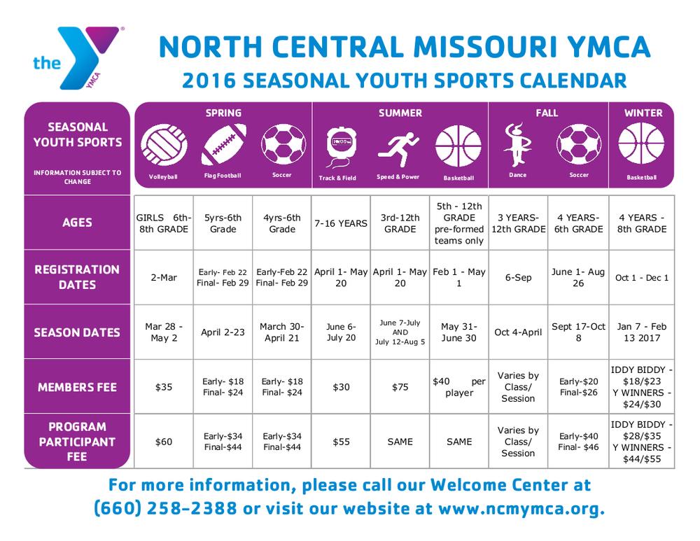 Seasonal Youth Sports