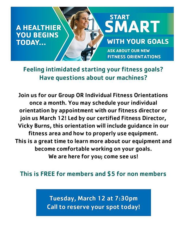 New things happening at the Y! Register today!