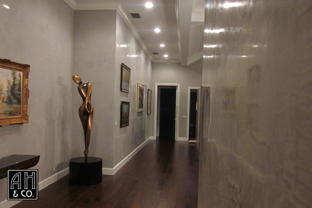 HIGH GLOSS GRAY VENETIAN PLASTER GALLERY