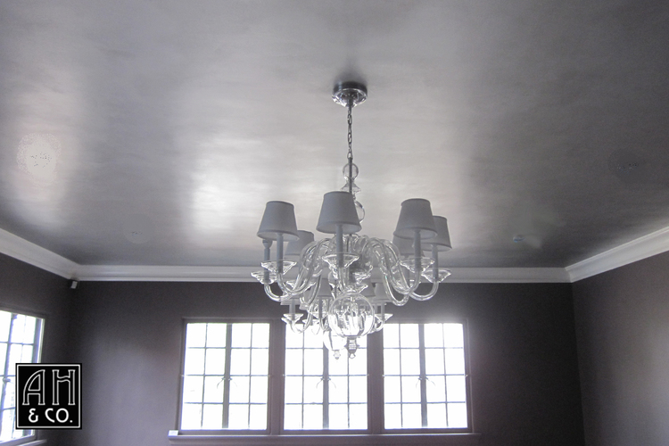 SILVER METALLIC PAINTED CEILING FINISH